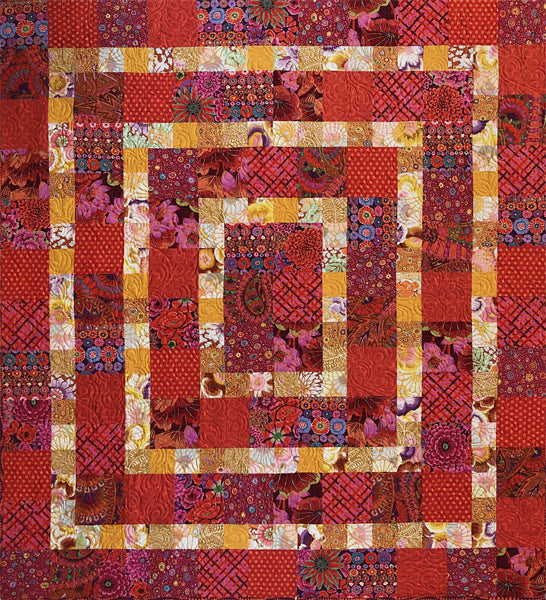 Kaffe Framed Quilt Kit Red