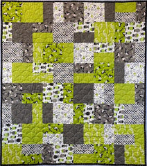 Easy Eight Lime Mermaid Quilt