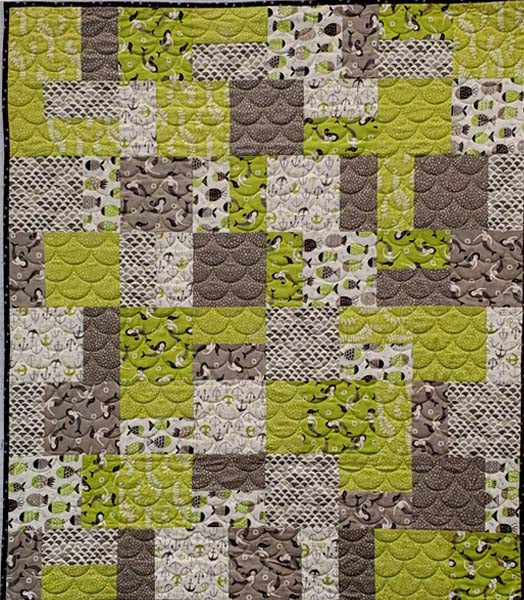 Easy Eight Lime Mermaids Quilt Bundle