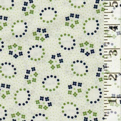 Hi De Ho Oval Flowers Green MAS9142-G