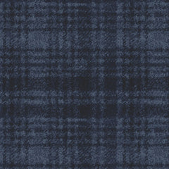Woolies Flannel Windowpane Navy MASF18501-N