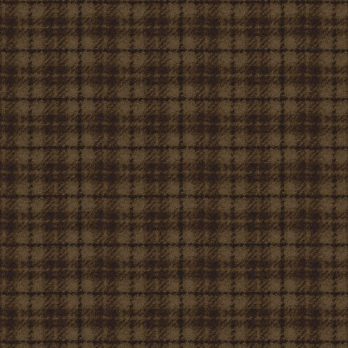 Woolies Flannel Brown Window Panes MASF18502-A