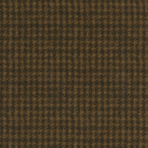 Woolies Flannel Houndstooth Dark Brown MASF18503-A