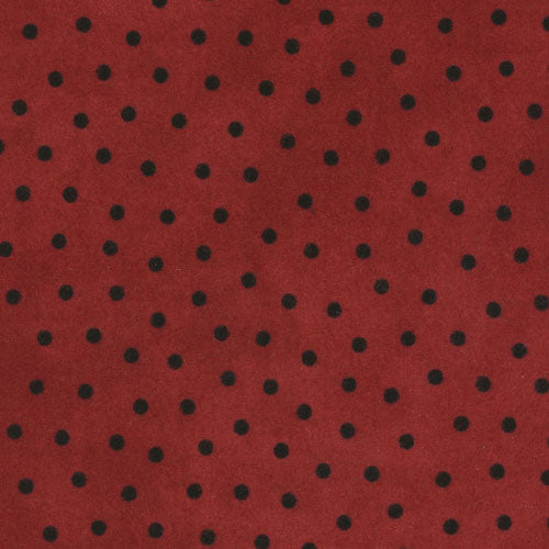 Woolies Flannel Black Dots on Red MASF18506-R
