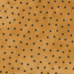 Woolies Flannel Black Dots on Gold MASF18506-S