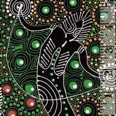 Aboriginals Dancing Spirit Green