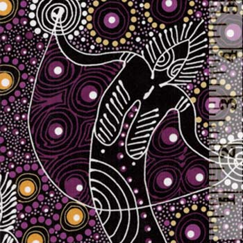 Aboriginals Dancing Spirit Purple