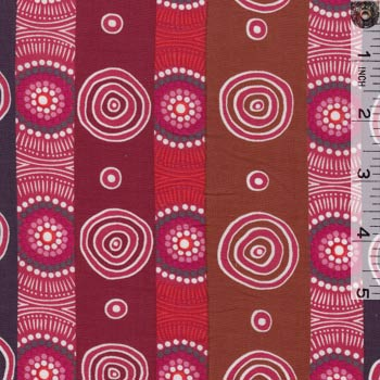 Aboriginals Desert Flowers Pink Stripe