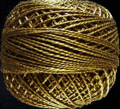 Valdani Pearl Cotton Size 12 Thread Solid Antique Gold Dark