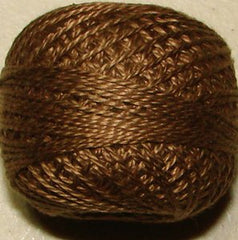 Valdani Pearl Cotton Size 12 Thread Solid Golden Brown 196