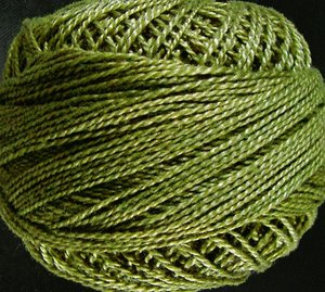 Valdani Pearl Cotton Size 12 Thread Solid Olive Green Medium