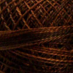 Valdani Pearl Cotton Size 12 Thread Variegated Brown P12