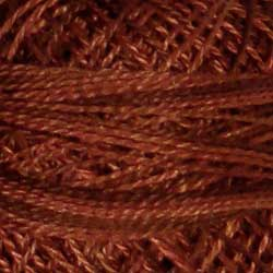 Valdani Pearl Cotton Size 12 Thread Variegated Coffee Roast O513