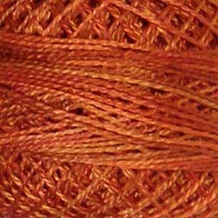 Valdani Pearl Cotton Size 12 Thread Variegated Rusted Orange