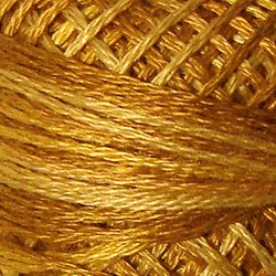 Valdani Pearl Cotton Size 12 Thread Variegated Tea Honey