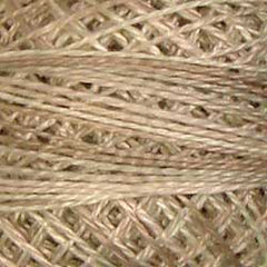 Valdani Pearl Cotton Size 12 Thread Variegated Aged White Light P4