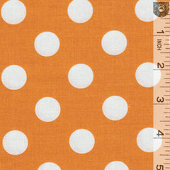 White Dots Burnt Orange C36065