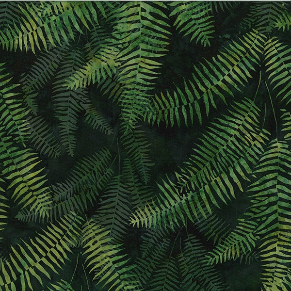 Bali Batik Ferns Christmas Green S2373-189