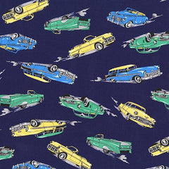 Vintage Cars Blue Fabric (SB-850280D1-4)