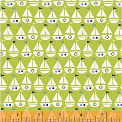 Seaside Sailboats Green 42694-5