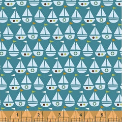 Seaside Sailboats Teal 42694-6