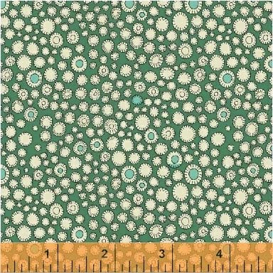 Fantasy Floral Flower Buttons Parakeet Fabric (51291-7)