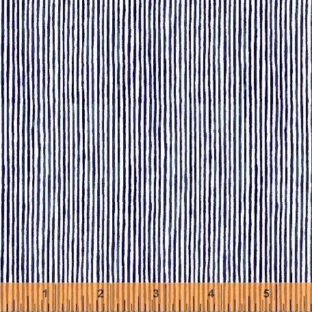 Sweet Oak Candy Stripe Navy Fabric (51312-1)