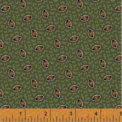 General Store Oval Foulard Sage Fabric (51454-4)