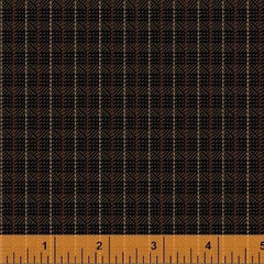 General Store Textured Plaid Brown Fabric (51455-1)