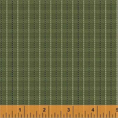 General Store Textured Plaid Sage Fabric (51455-4)