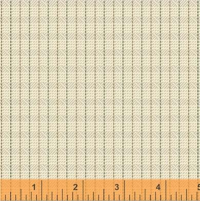 General Store Textured Plaid Ivory Fabric (51455-6)
