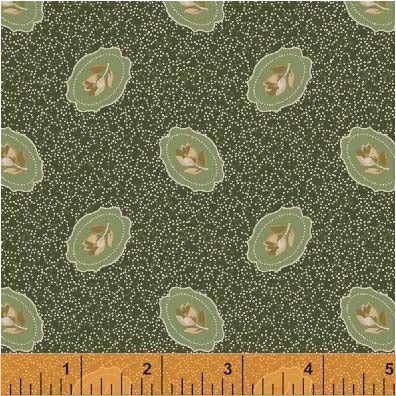 General Store Portrait Flower Sage Fabric (51459-4)