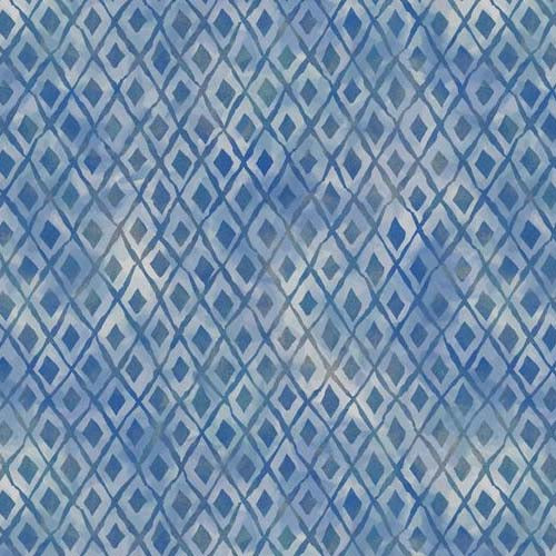 Forest Dance Diamond Nest Blue Fabric (39617-441)