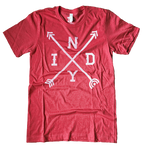Red Indy Arrows Tee - HomeTown Riot