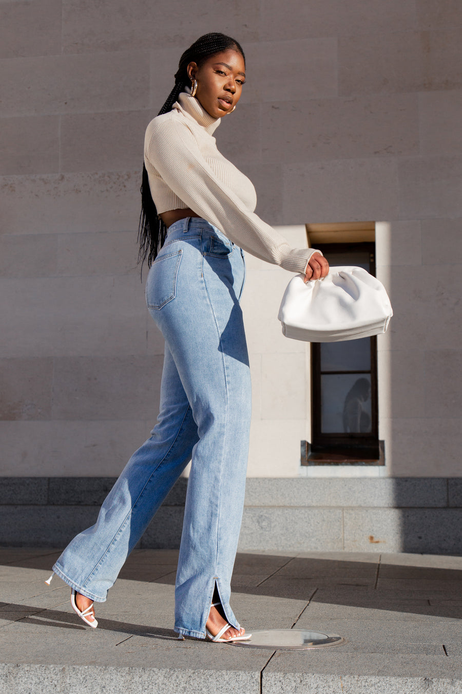 Iconic Light Blue Side Split Jeans