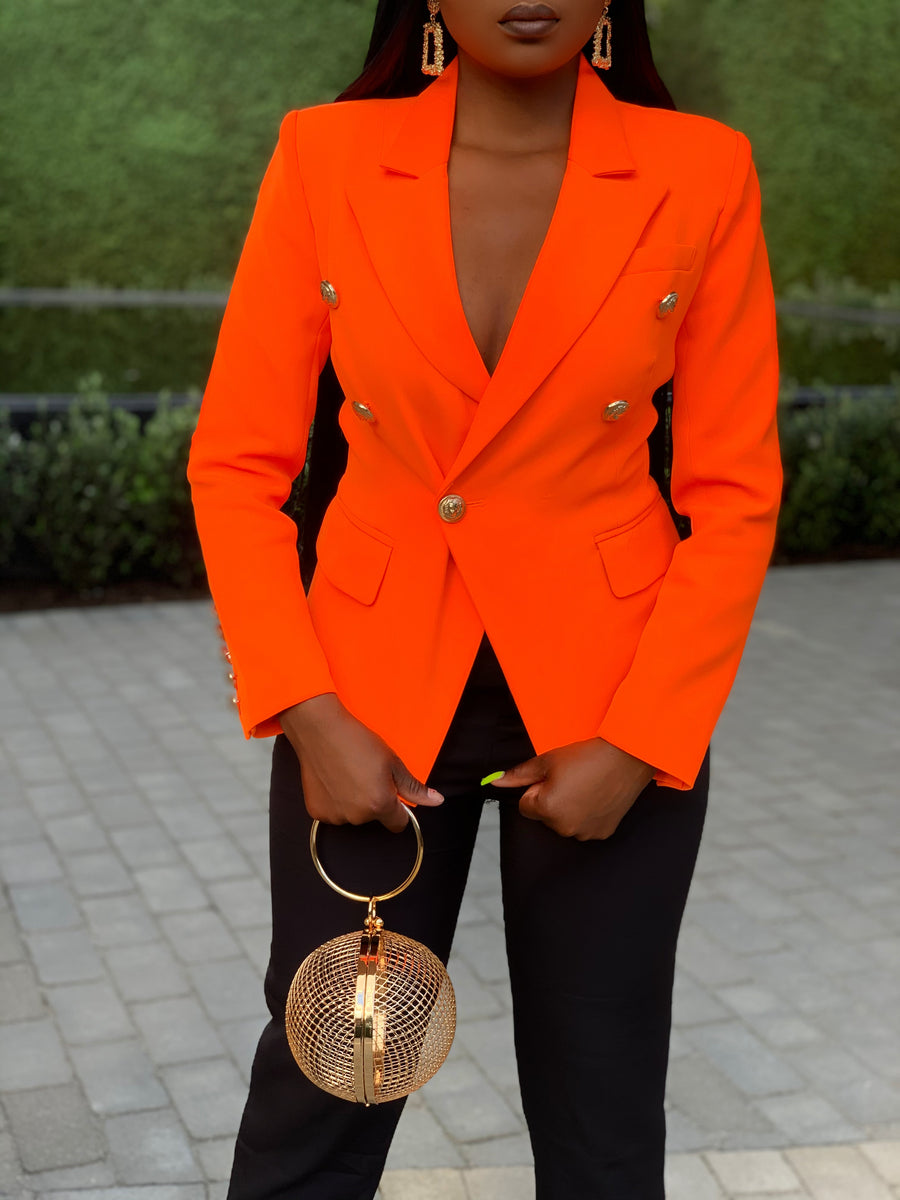 Empowered In Orange Blazer (Preorder)