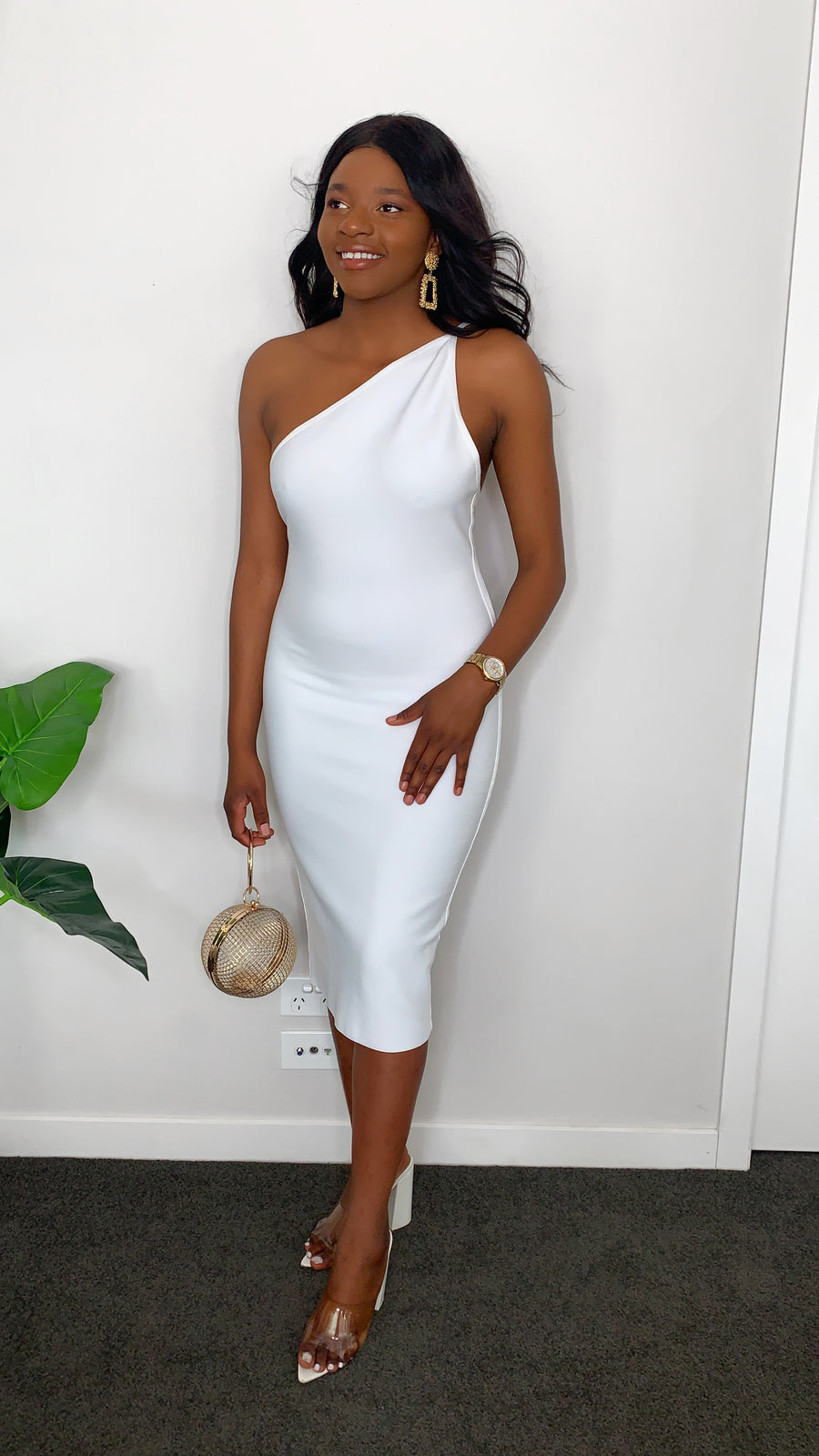 Irresistible In White Bodycon Dress (preorder)