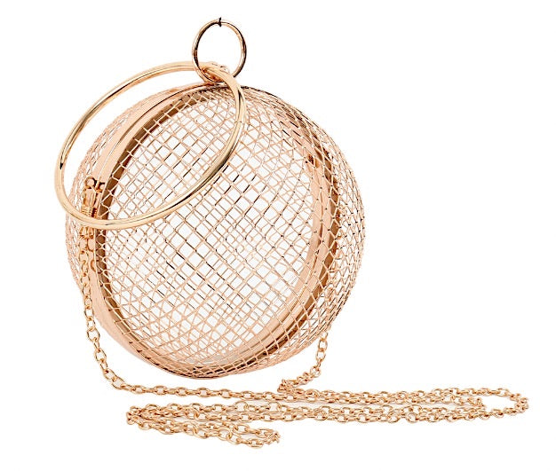 Gold Cage Clutch