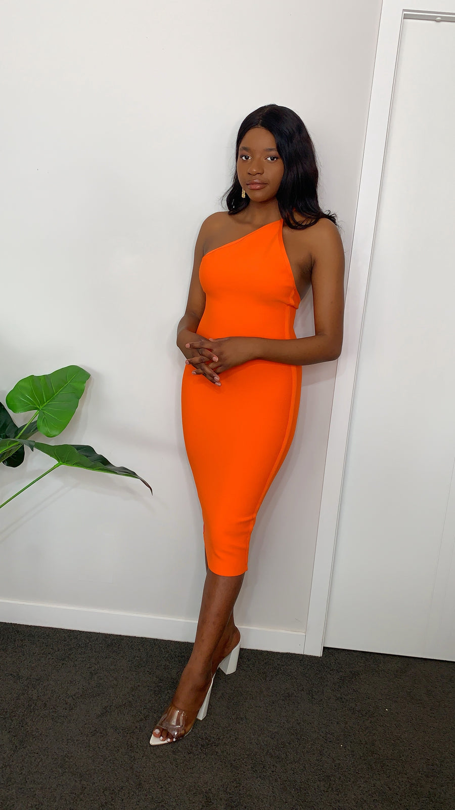 Irresistible In Orange Bodycon Dress