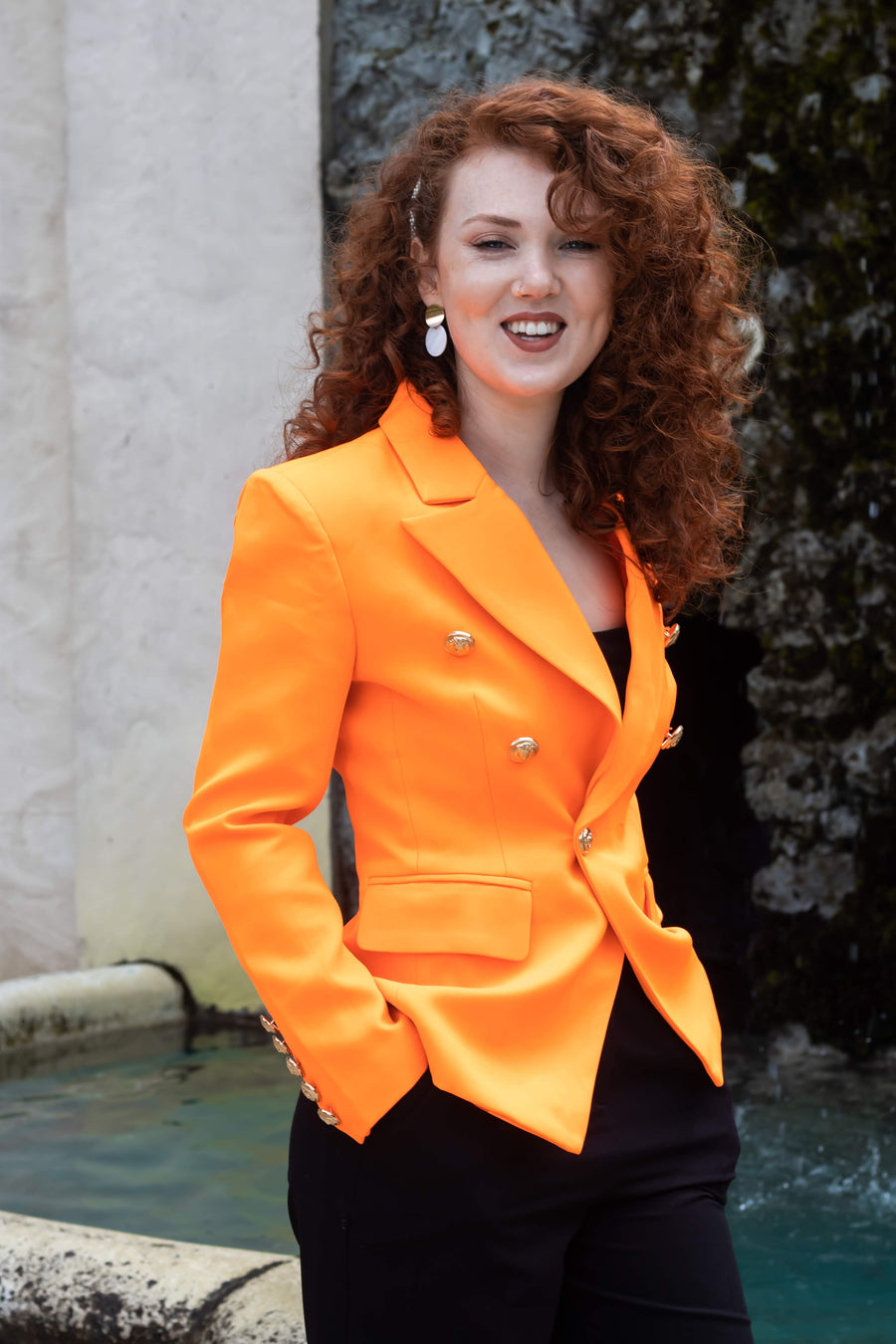 Empowered in Orange blazer - ferox-boutique -
