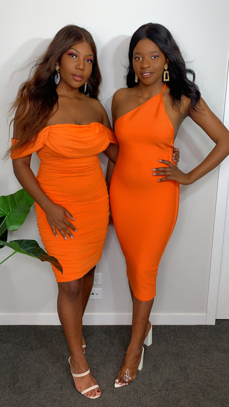 Irresistible In Orange Bodycon Dress (Preorder)
