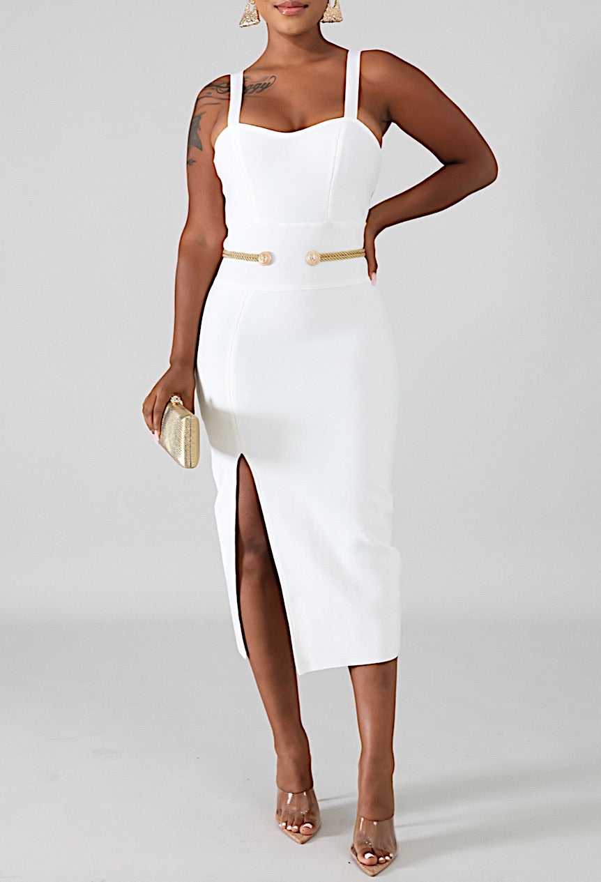 White Gold Divine Bodycon Dress