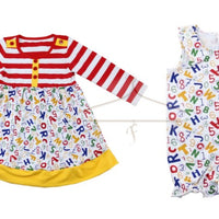 ABC & 123 Back to School Dress