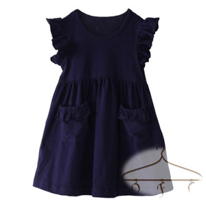 Flutter Sleeve Pocket Dress