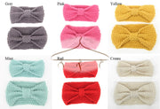 crochet headbands in child and adult sizes in various colors