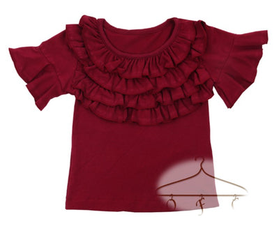 Short Sleeve Qruffle Top