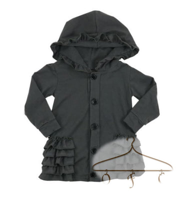 Hooded Ruffle Caridgan