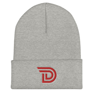 "Drawlz ""D"" Emblem (Red) Cuffed Beanie"
