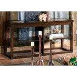 Alberto Dark Cherry Sofa Table with Ceramic Tile Inlays