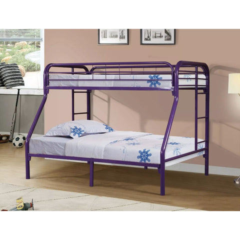 Twin Over Full Metal Bunk Bed - Purple
